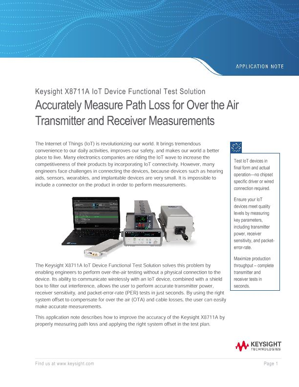 Accurately measure path loss for over the air transmitter and receiver measurements