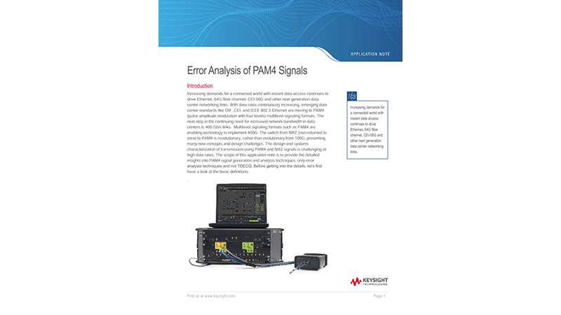 Error Analysis of PAM4 Signals