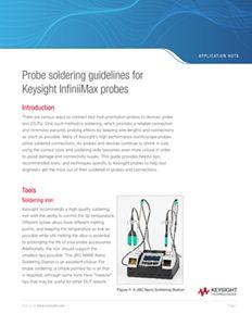 Probe Soldering Guidelines for Keysight InfiniiMax Probes