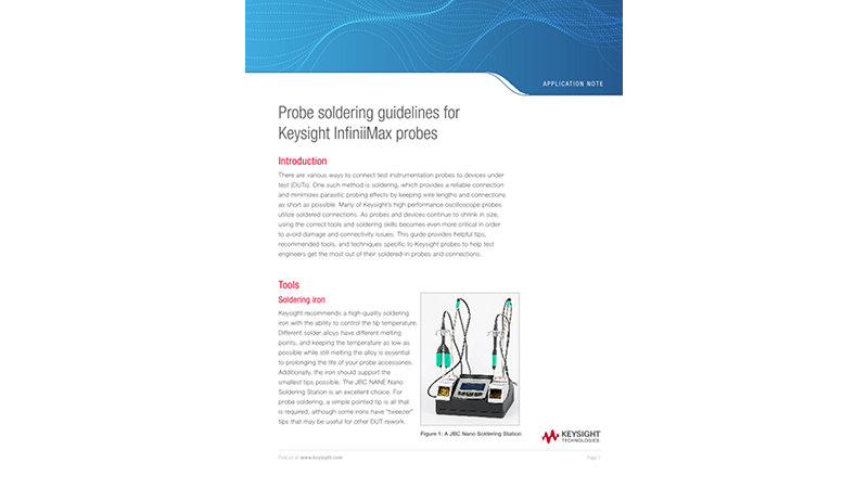 Probe Soldering Guidelines for Keysight InfiniiMax Probes