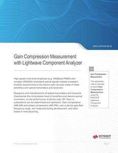 Gain Compression Measurement with Lightwave Component Analyzer