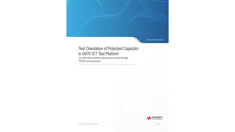 Polarized Capacitor Orientation Test in ICT Test Platform