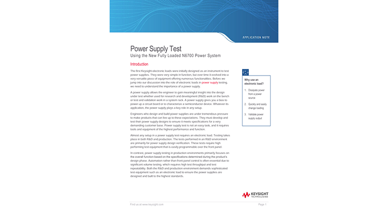 How to Optimize Power Supply Testing