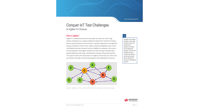 IoT Testing Challenges for ZigBee IoT Products