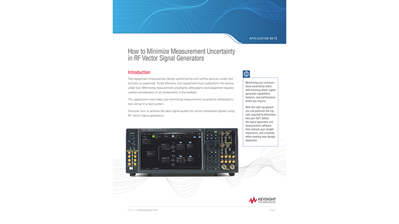 How to Minimize Measurement Uncertainty Using RF Signal Generators