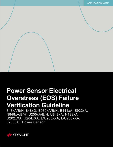 Power Sensor Electrical Overstress (EOS) Failure Verification Guideline