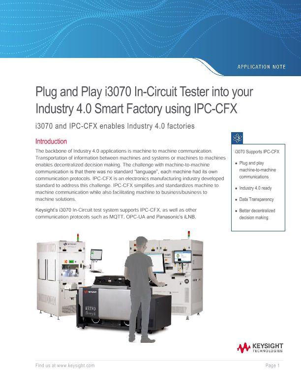 i3070 In-Circuit Tester (ICT) – Industry 4.0 Ready