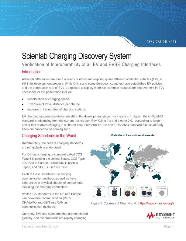 Scienlab Charging Discovery System – Verification of Interoperability of all EV and EVSE Charging Interfaces