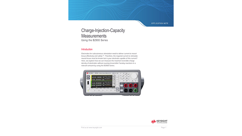 Charge-Injection-Capacity Measurements