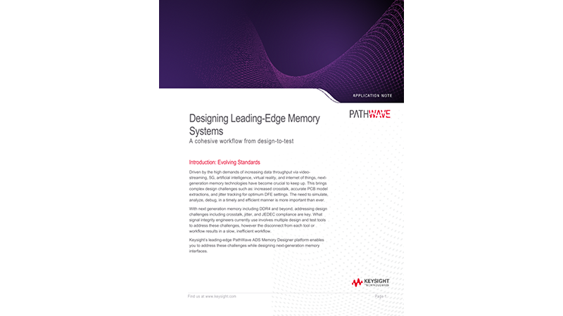 Designing Leading-Edge Memory Systems