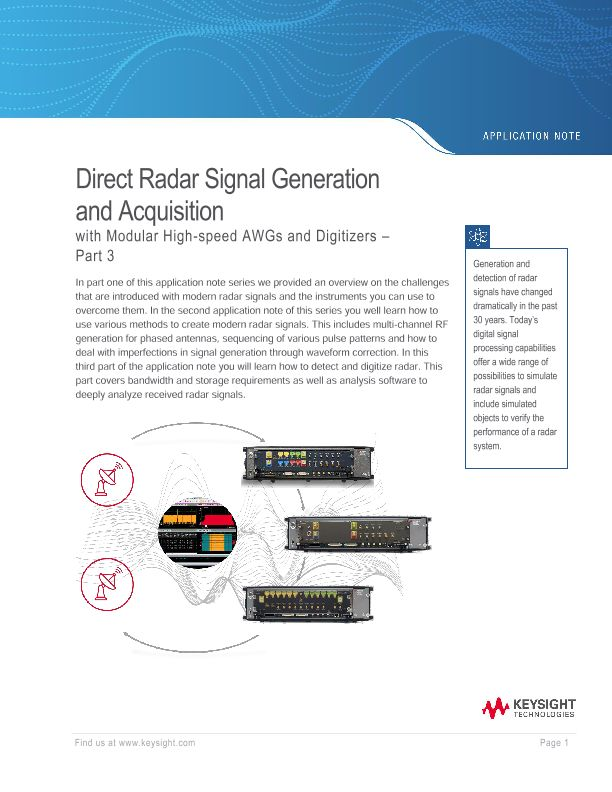 Direct Radar Signal Generation and Acquisition – Part 3