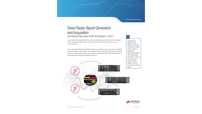 Direct Radar Signal Generation and Acquisition – Part 2