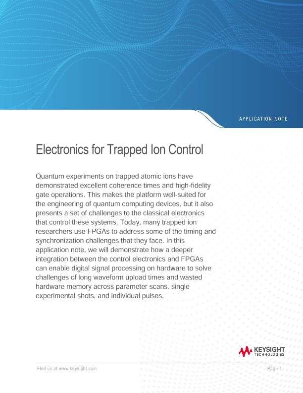 Electronics for Trapped Ion Control