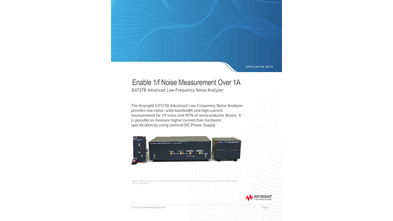 Enable 1/f Noise Measurement Over 1A