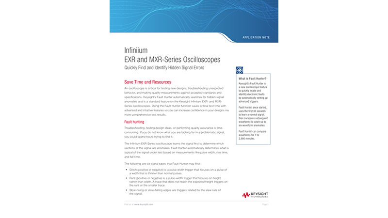 Infiniium EXR and MXR-Series Oscilloscopes: Quickly Find and Identify Hidden Signal Errors