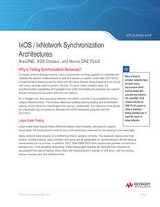 Ixia IxOS/IxNetwork Synchronization Architectures