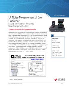 LF Noise Measurement of D/A Converter