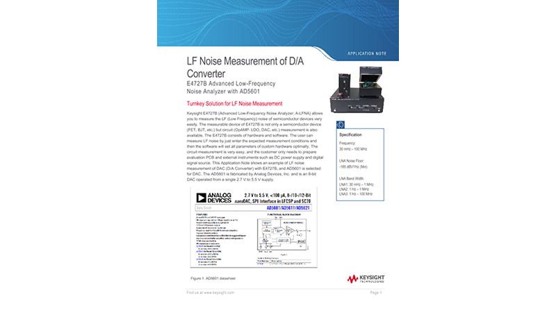 LF Noise Measurement of D/A Converter