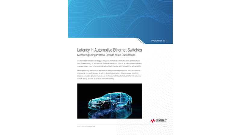 Latency in Automotive Ethernet Switches