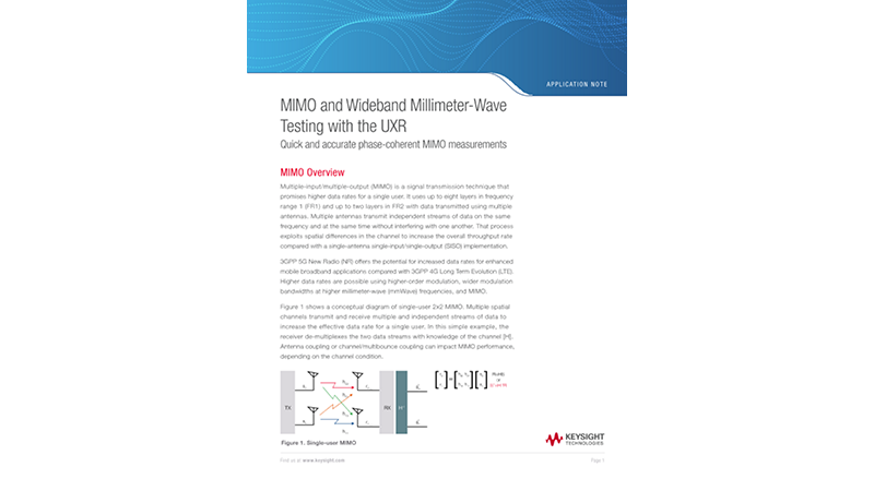 MIMO and Wideband Millimeter-Wave Testing with the UXR