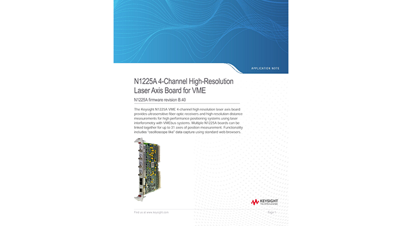 N1225A 4-Channel High-Resolution Laser Axis Board for VME