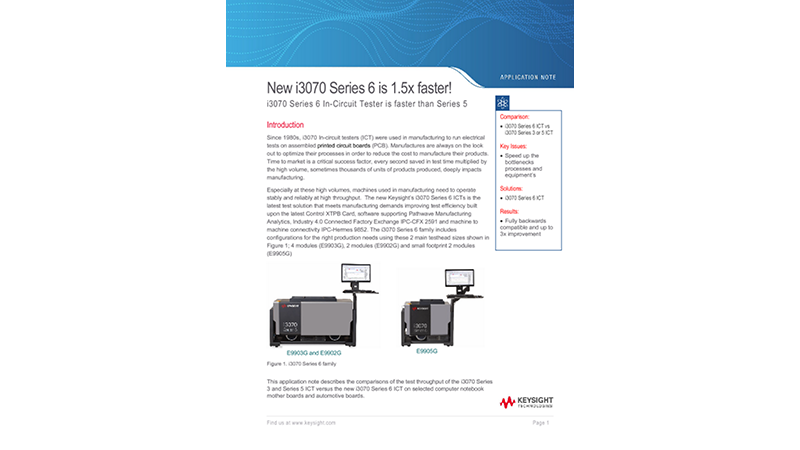 New i3070 Series 6 is 1.5x faster!