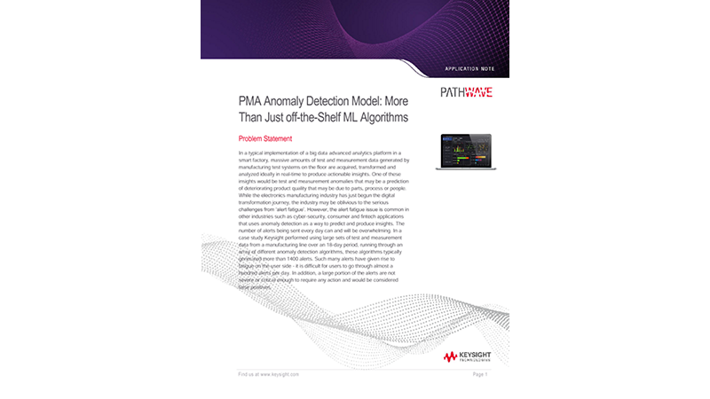 PMA Anomaly Detection Model: More Than Just off-the-Shelf ML Algorithms