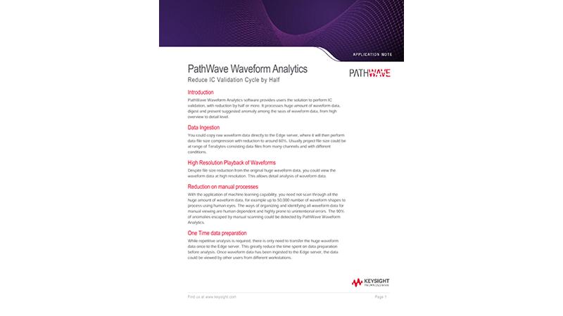 PathWave Waveform Analytics Reduce IC Validation Cycle by Half