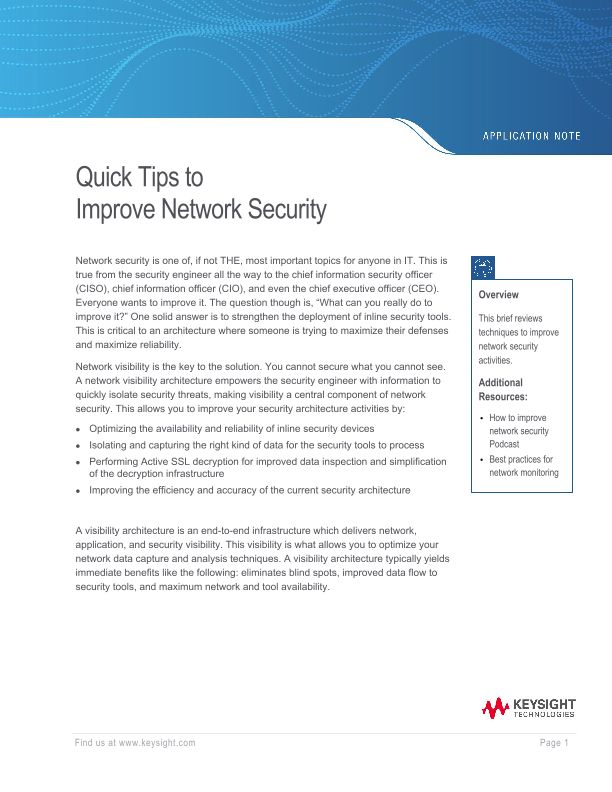 Quick Tips to Improve Network Security