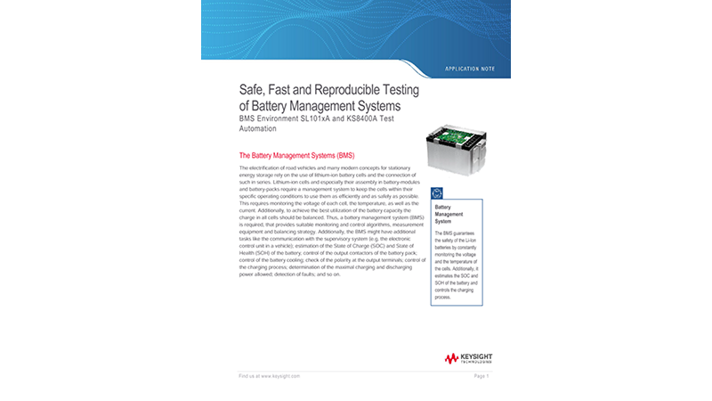 Safe, Fast and Reproducible Testing of Battery Management Systems