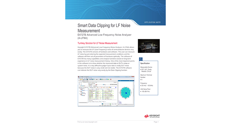 Smart Data Clipping for LF Noise Measurement