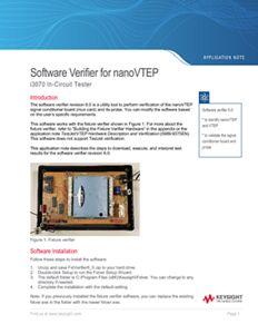 Software Verifier for nanoVTEP i3070 In-Circuit Tester