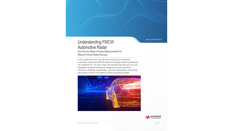 Understanding FMCW Automotive Radar