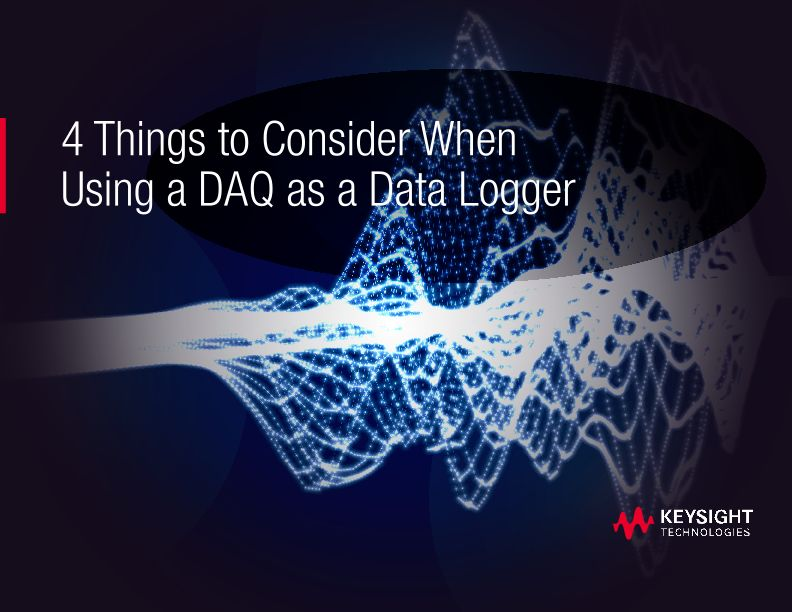 4 Things to Consider When Using a DAQ as a Data Logger