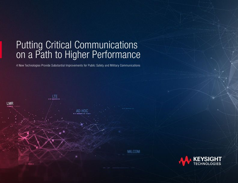 Putting Critical Communications on a Path to Higher Performance
