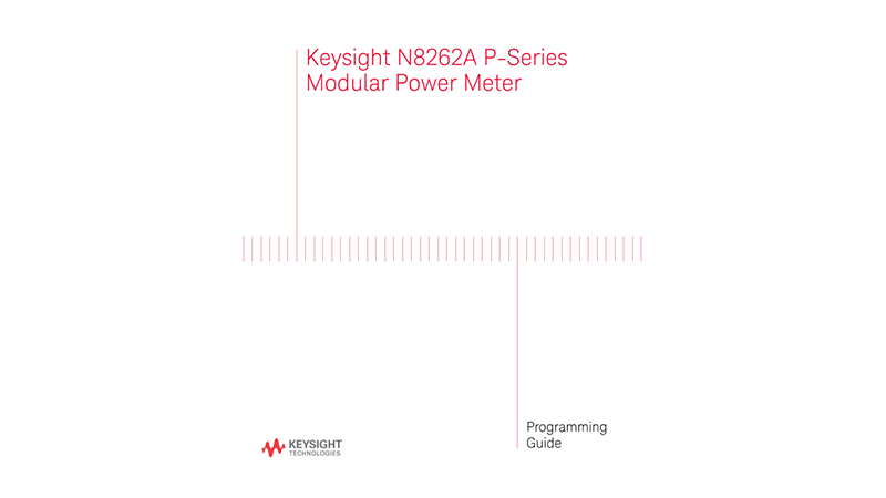 N8262A P-Series Modular Power Meter Programming Guide