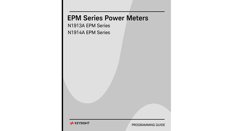 N1913A/N1914A EPM Series Power Meter Programming Guide