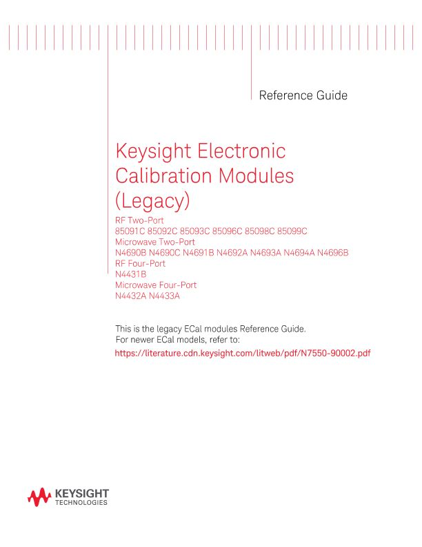 Electronic Calibration (ECal) Modules (Legacy) Reference Guide