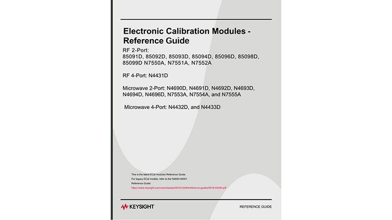 N443xD, N469xD, & N755xA Electronic Calibration Modules Reference Guide