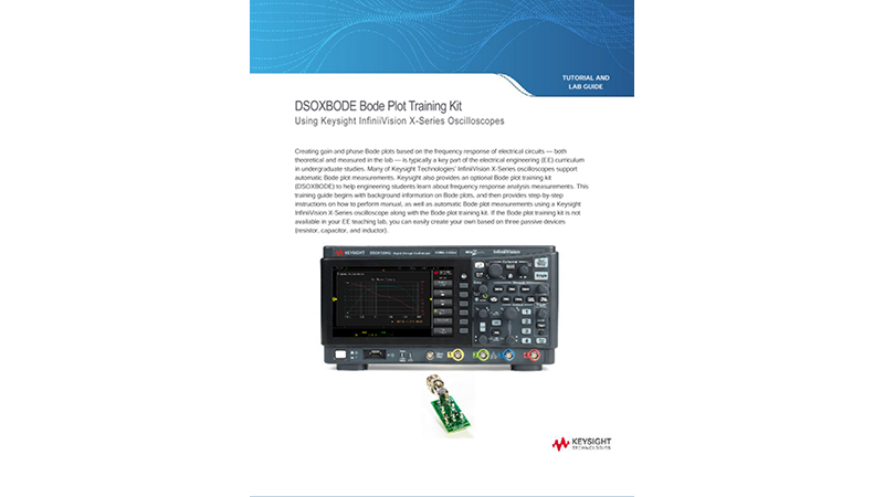 DSOXBODE Bode Plot Training Kit Tutorial and Lab Guide