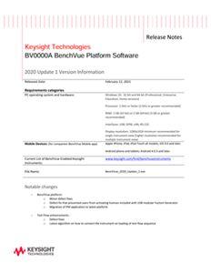 BenchVue Platform Software Release History