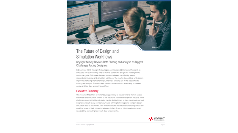 The Future of Design and Simulation Workflows - Report