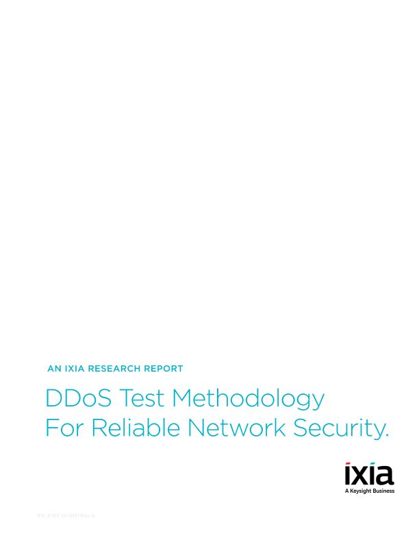 DDoS Test Methodology to Validate Security Resiliency