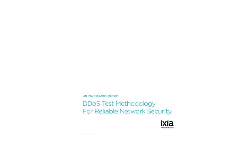 DDoS Test Methodology to Validate Security Resiliency