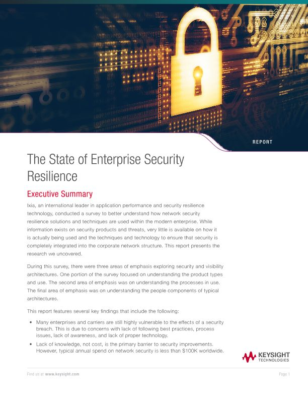 The State of Enterprise Security Resilience