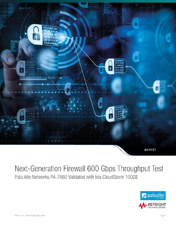 Next-Generation Firewall 600 Gbps Throughput Test