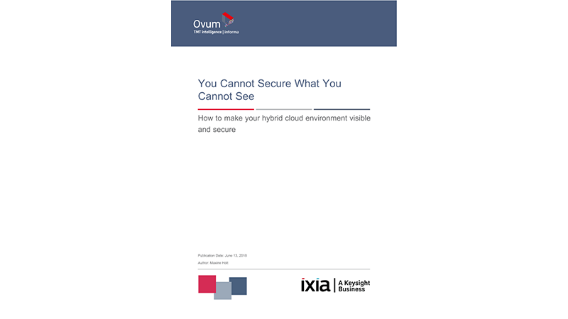 Ovum Report: You Cannot Secure What You Cannot See