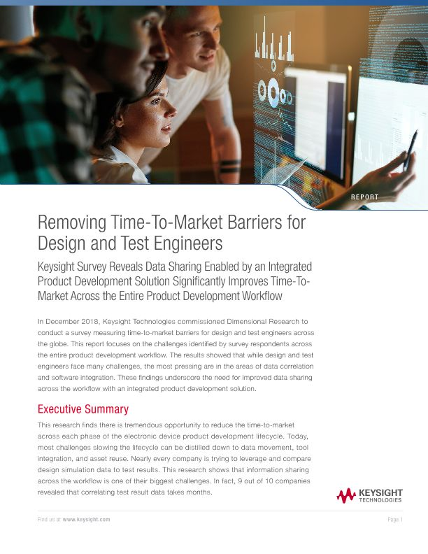 Removing Time-To-Market Barriers for Design and Test Engineers