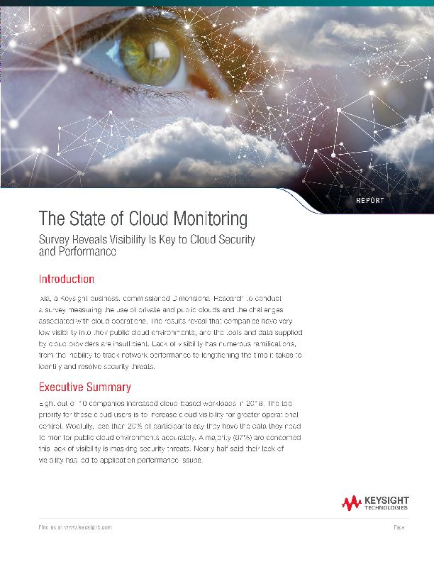 The State of Cloud Monitoring