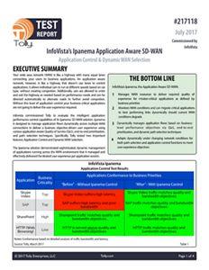 Tolly Test Report-InfoVista SD-WAN Test Using IxChariot